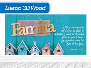 Lienzos 3D Wood