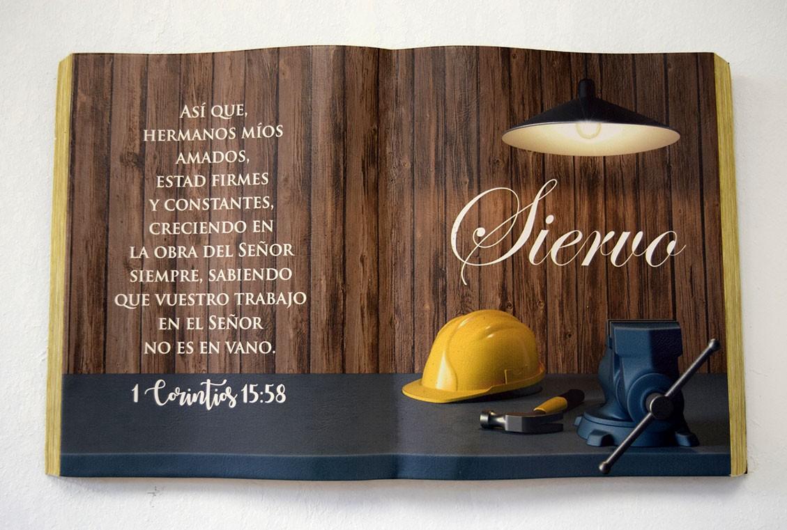 """Cuadro """"Siervo"""" 1 Corintios 15:58 Colección Ministerial"""