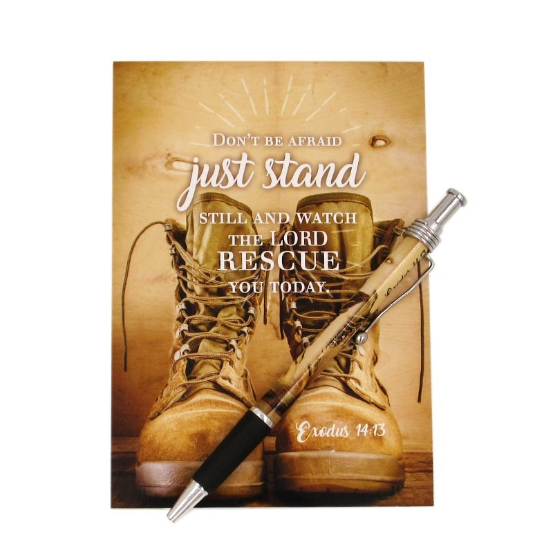 Notepad & Pen Boots (Exodus 14:13))