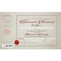 CERTIFICADOS X 20 ORDENACIÓN MINISTERIAL