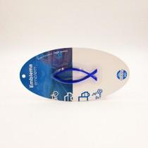 Emblema Pez Figura Azul Pequeño