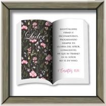 "Cuadro ""Lider Mujer"" 1ª Cor. 15:58 Colección Ministerial"