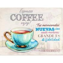 Lienzos Coffee Lam. 3:23 - 3D Iron
