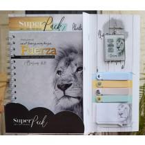 Pack libreta + Llavero + Sticky Notes Fuerza