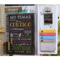 Pack libreta + Llavero + Sticky Notes No Temas