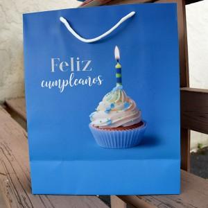 Bolsa Feliz Cumpleaños Azul (L)