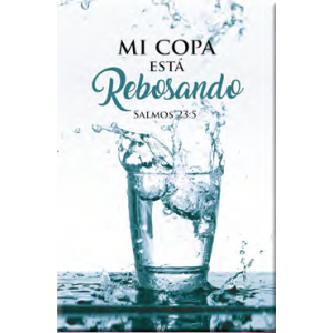 Cuadro Mi copa está rebosando - Colección Madera