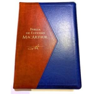 Biblia de Estudio MacArthur Edición de Lujo Letra Grande con Indice y Cierre RVR1960