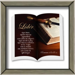 """Cuadro """"Líder"""" Romanos 15:13 Colección Ministerial"""