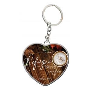 Llavero Corazón Refugio (Salmos 91:2)
