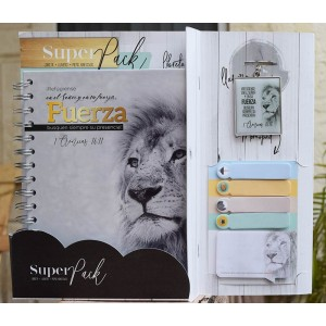 Pack libreta + Llavero + Sticky Notes Fuerza