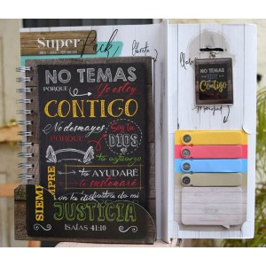 Pack libreta + Llavero + Sticky Notes No Temas