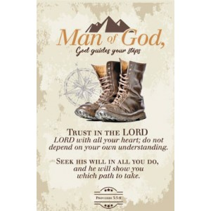 Ceramic Plaque Boots Prov. 3:5-6