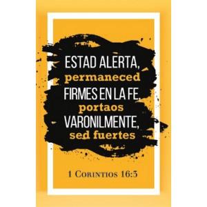 Plaqué Cerámica Estad Alerta 1 Cor. 16:3