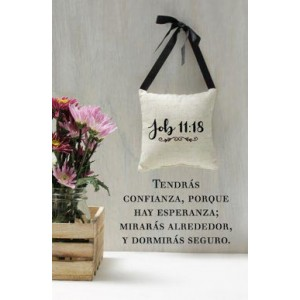 Plaqué Cerámica Job 11:18