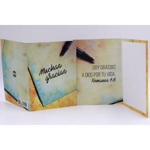 Tarjeta Muchas Gracias Script