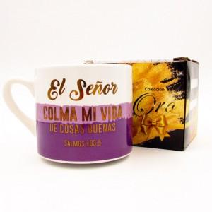 Taza El Señor Colma Mi Vida - Oro