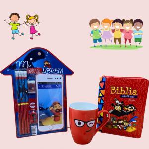 Set Jonas Biblia MI Gran Viaje Rojo