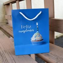 Bolsa Feliz Cumpleaños Azul (S)