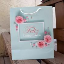 Bolsa Feliz Cumpleaños Rosa (S)