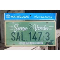 Placa Carro Sana & Venda